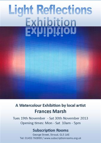 A6 light reflections Exhibition flyer 2013 FRONT ONLY a